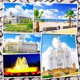 Collage av härliga Barcelona Royaltyfria Foton