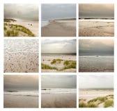 Collage av härliga havsdynlandskap i Danmark royaltyfri fotografi