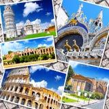 Collage av härliga Italien Arkivbilder