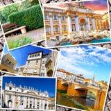 Collage av härliga Italien Arkivbild