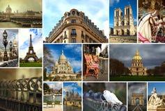 Collage av härliga Paris i Frankrike royaltyfri foto