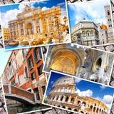 Collage av härliga Italien Royaltyfri Foto