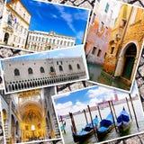 Collage av härliga Italien Arkivfoto