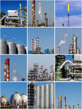 Collage av industriella bilder Royaltyfri Bild