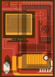 Collage av informationsteknik Arkivbild