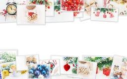 Collage av julbilder Ferier och händelser arkivfoto