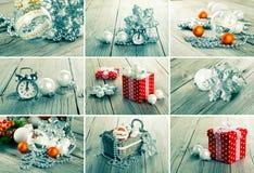 Collage av julfoto fotografering för bildbyråer