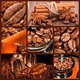 Collage av kaffe. royaltyfri foto
