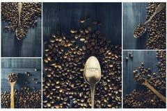 Collage av kaffe royaltyfri foto