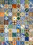 Collage av keramiska tegelplattor från Portugal Royaltyfri Foto