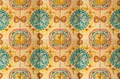 Collage av keramiska tegelplattor från Portugal Royaltyfria Foton