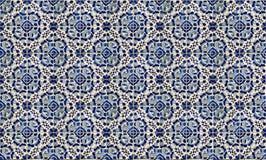 Collage av keramiska tegelplattor från Portugal Arkivbild