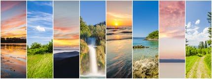 Collage av landskap arkivfoto