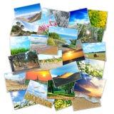 Collage av många föreställer att ligga i en hög Royaltyfria Foton