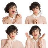 Collage av många uttryck fotografering för bildbyråer