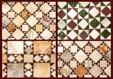 Collage av marmortrottoarer Arkivbild
