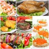Collage av mat arkivbild