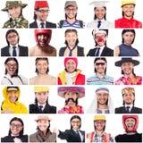 Collage av många vänder mot från samma modell Royaltyfri Fotografi
