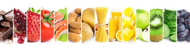 Collage av mogen mat för blandad ny färg royaltyfria bilder