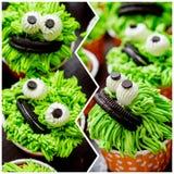 Collage av muffin Royaltyfri Foto