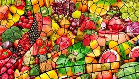 Collage av nya frukter och grönsaker royaltyfri foto