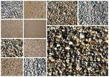 Collage av olik sand arkivfoto