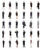 Collage av olika businesspeople arkivbild