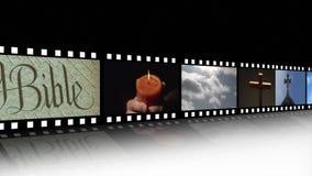 Collage av religiös längd i fot räknat lager videofilmer