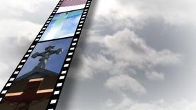 Collage av religiös längd i fot räknat 4 lager videofilmer