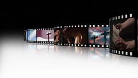 Collage av religiös längd i fot räknat 3 arkivfilmer
