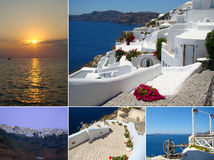 Collage av Santorini royaltyfri bild