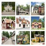 Collage av sikter av världen för Astrid Lindgren ` s, Astrid Lindgrens Va royaltyfri bild