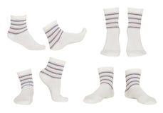 Collage av sockor royaltyfri fotografi