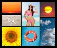 Collage av sommaren Royaltyfri Fotografi