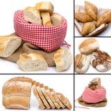 Collage av sortimentet av bröd Fotografering för Bildbyråer