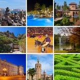 Collage av Spanien bilder Arkivfoto