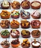 Collage av spansk kokkonst Royaltyfri Bild