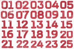 Collage av textural nummer Arkivfoto