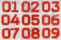 Collage av textural nummer Arkivfoton