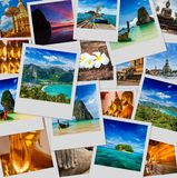 Collage av Thailand bilder Royaltyfria Foton