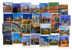 Collage av Tjeckien avbildar mina foto fotografering för bildbyråer