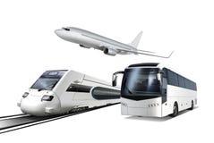 Collage av transport stock illustrationer