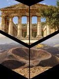 Collage av turist- foto av Italien arkivfoto