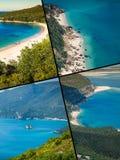 Collage av turist- foto av Sintraen, Portugal fotografering för bildbyråer