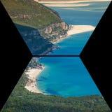 Collage av turist- foto av Sintraen, Portugal arkivfoton