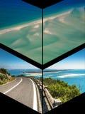 Collage av turist- foto av Sintraen, Portugal royaltyfria bilder