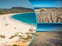 Collage av turist- foto av Tarifaen, Spanien royaltyfria foton