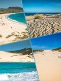 Collage av turist- foto av Tarifaen, Spanien arkivfoto