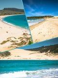 Collage av turist- foto av Tarifaen, Spanien arkivfoton
