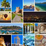 Collage av Turkiet bilder Arkivfoton